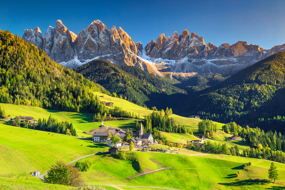 [A] The Dolomites are part of what mountain range?