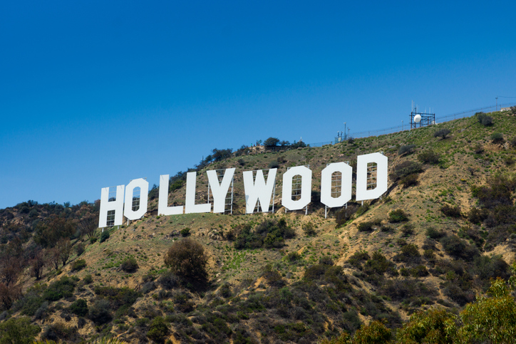 What did the Hollywood sign originally say?