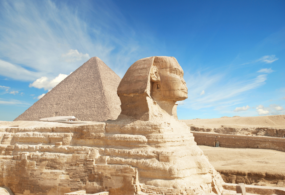 [Q] What did the Great Sphinx of Giza serve as?