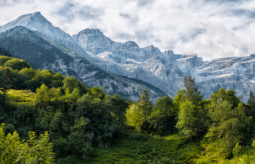 What mountain range separates France from Spain?