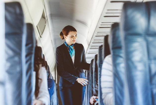 Which sense is affected during air travel?