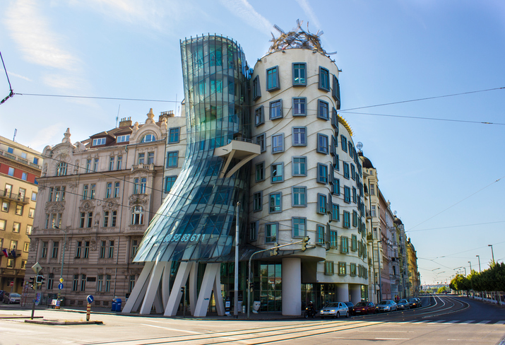 [A] Prague's famous Dancing House was inspired by which American dancers?