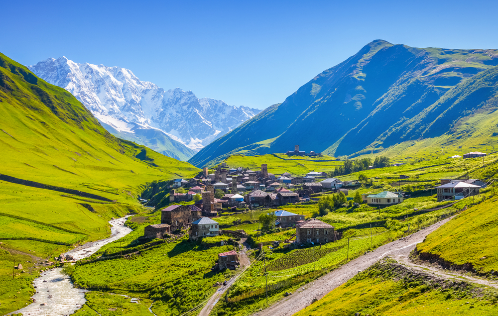 [A] Which country has the highest average elevation in Europe?