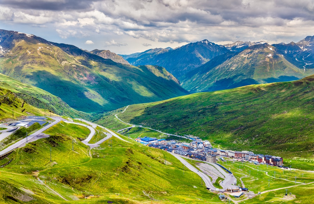 Which country has the highest average elevation in Europe?