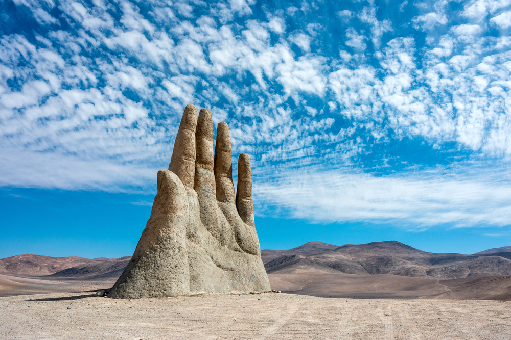 [A] Where will you find the Hand of the Desert?