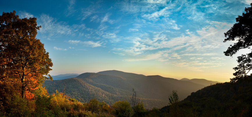 [A] What mountain range is nicknamed the Blue Ridge Mountains?